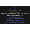 Annihilus 20 Stats 17-19 Resists 5-9 Experience