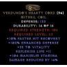 Verdungo's Hearty Cord - 15% DR & +40 Vit