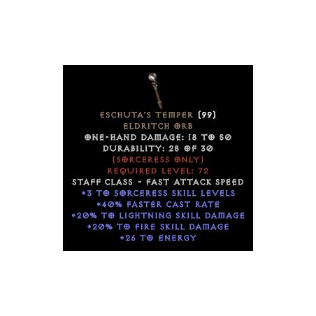 Eschuta's Temper - 3 to skill